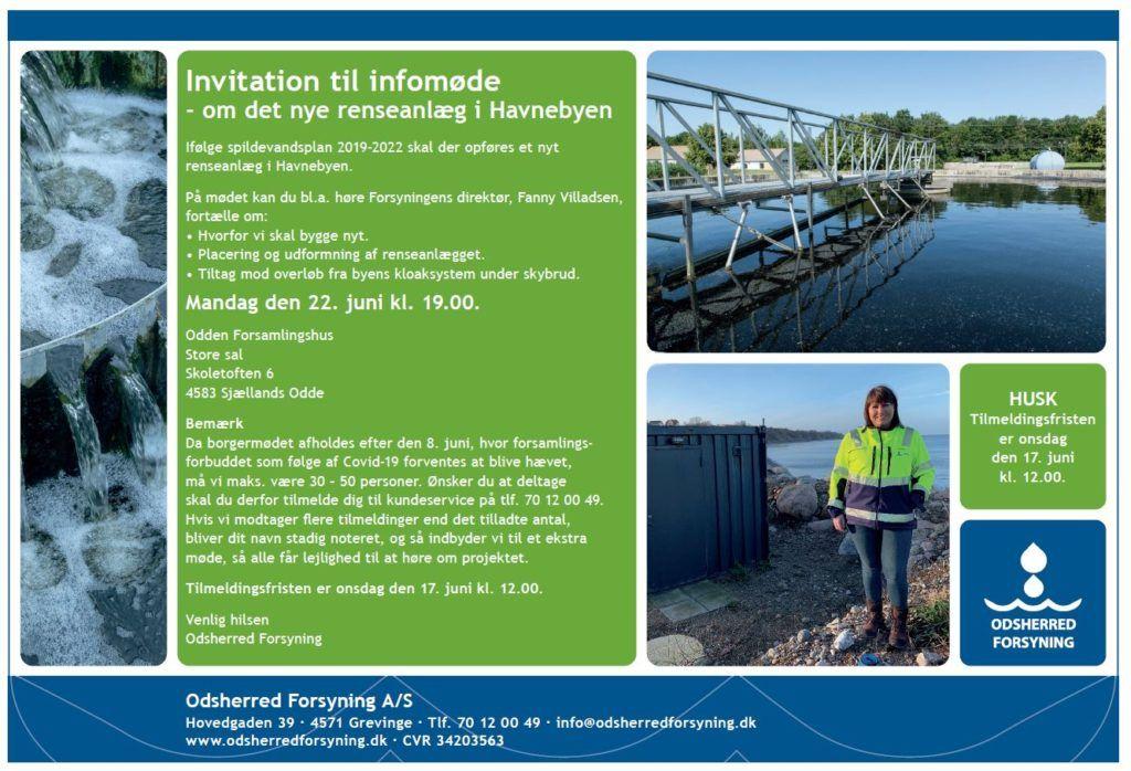 invitation til infomøde om nyt renseanlæg i havnebyen